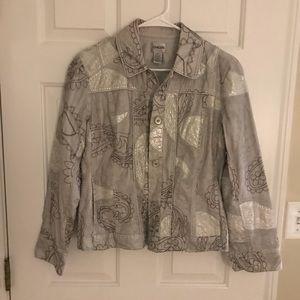 CHICOS silver jacket